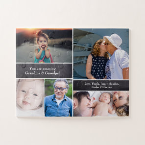 Personalised, Photo Collage, Grandparents Jigsaw Puzzle