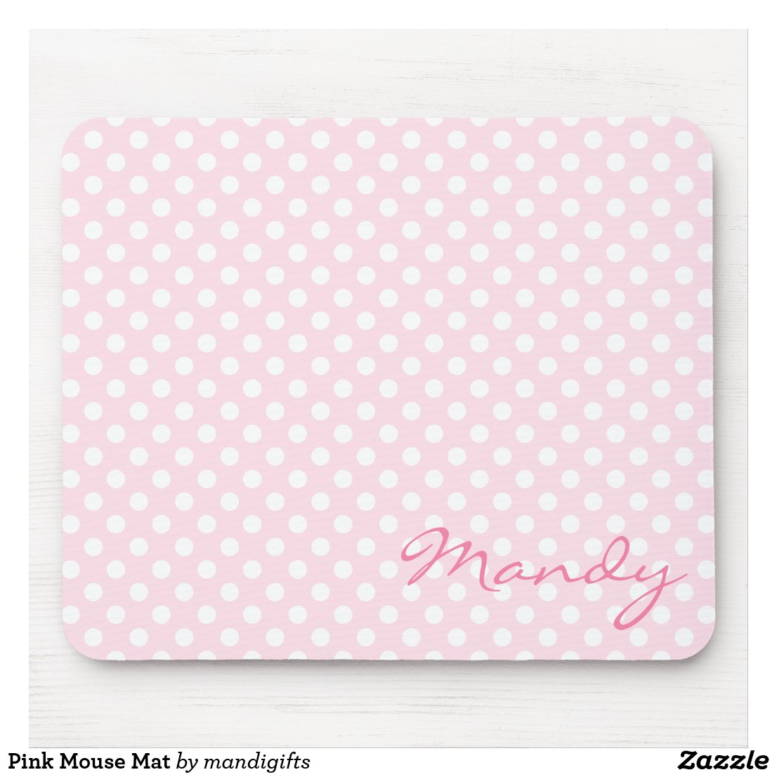 Personalised pink mouse mat
