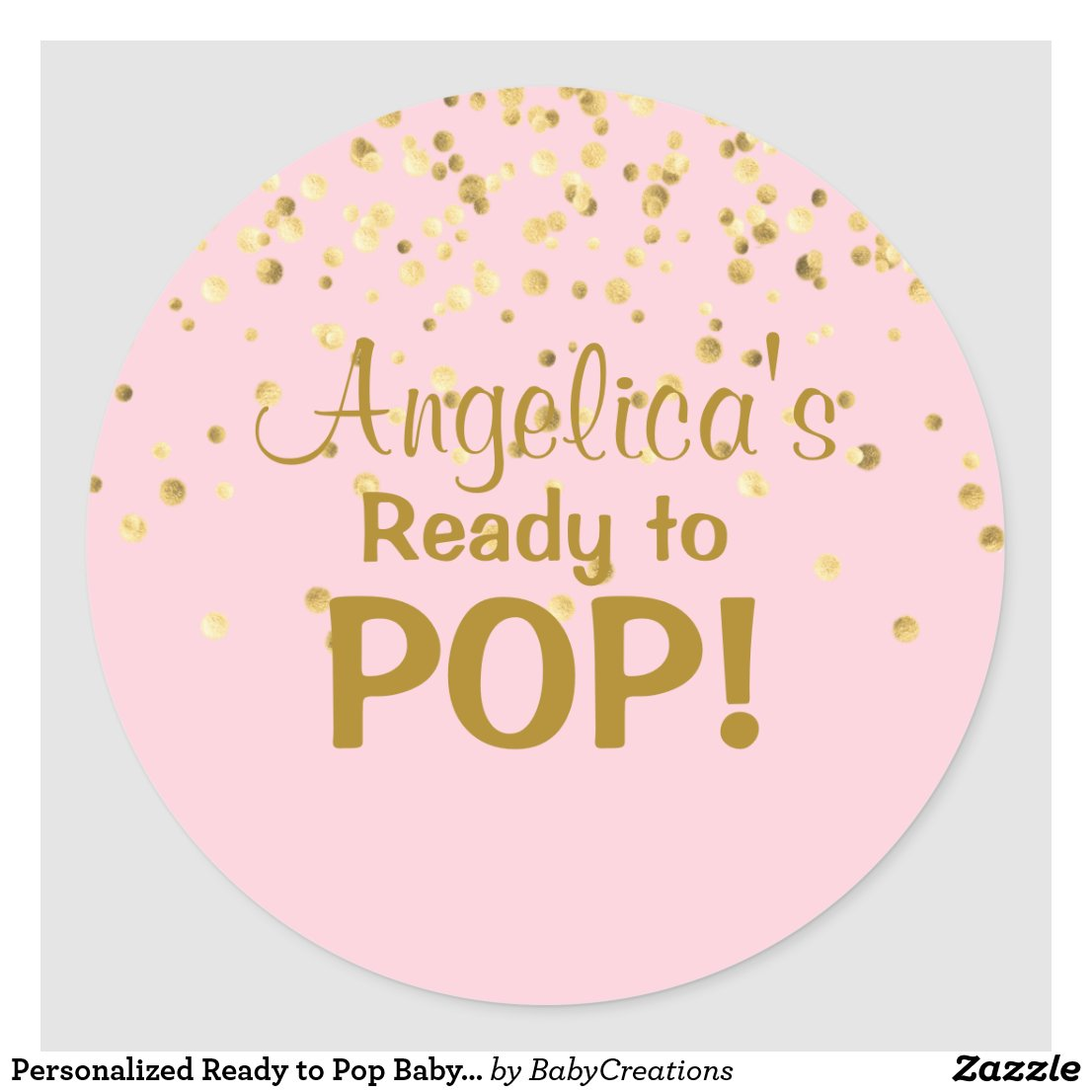 Personalised Ready to Pop Baby Shower Girl Pink