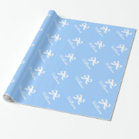 Personalized bow wrapping paper for baby shower