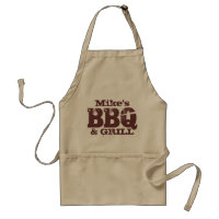 Personalized name BBQ apron