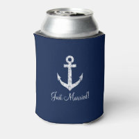 Nautical anchor wedding can coolers