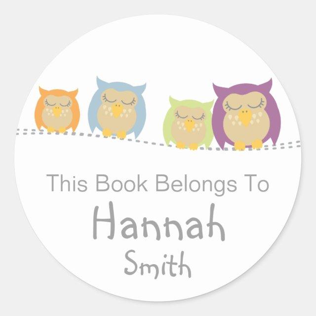 Pesrsonalised owl stickers
