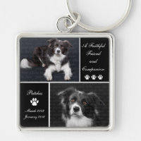 Pet Memorial Dog Photo Tribute Keychain