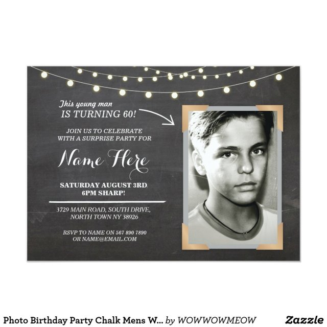 Photo Birthday Party Invite