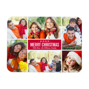 Photo Christmas Collage | Custom Colour Magnet