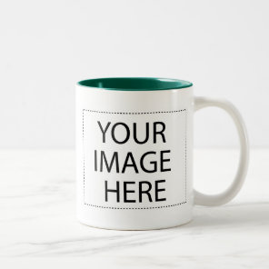 Photo mug - forest green 15oz template