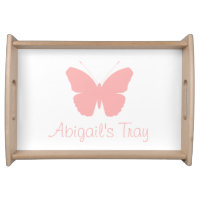 Butterfly Personalised Serving Tray