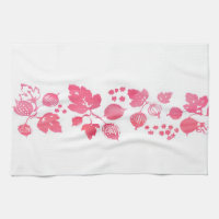 Pink Gooseberry Tea Towel - Set of 3