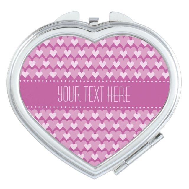 Pink Hearts custom pocket mirror