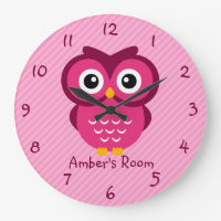 Owl Personalized Clock