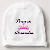 Pink Princess Personalized Beanie