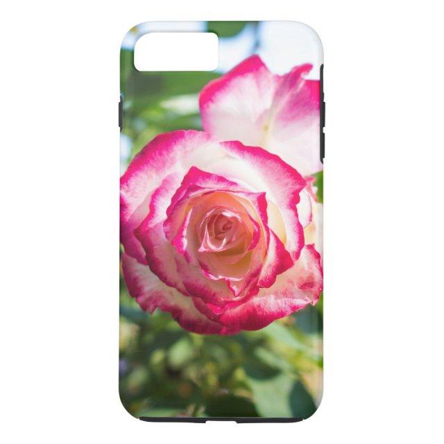 Pink rose floral pattern phone case