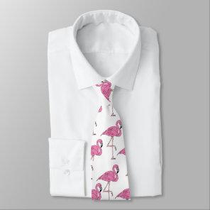 Pink Salmon - Flamingo Pattern Tie