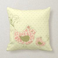 Bird  Whimsical Cushion