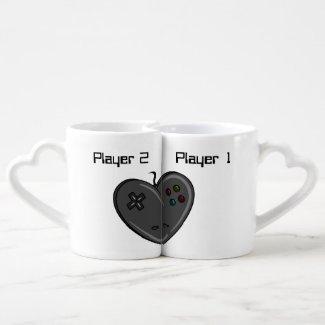 Player 1 & 2 Couple Gamer Heart