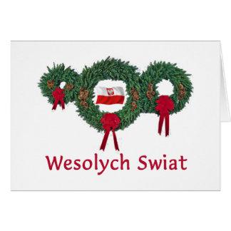 Merry Christmas Polish Christmas Cards Photo Card