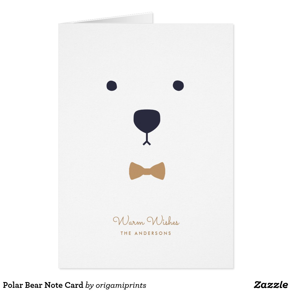 Polar Bear Note Card