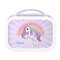 Pretty Pony Rainbow Purple Lunch Box