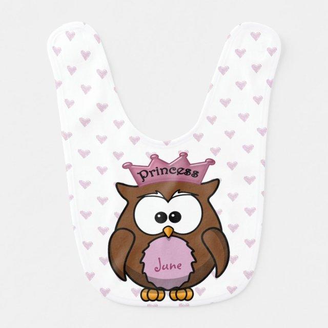 princess owl bibs