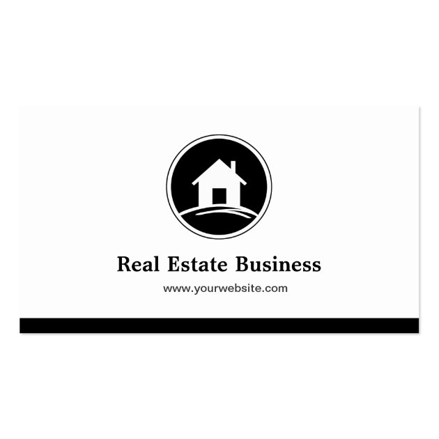 Professional Real Estate Broker Simple Black White