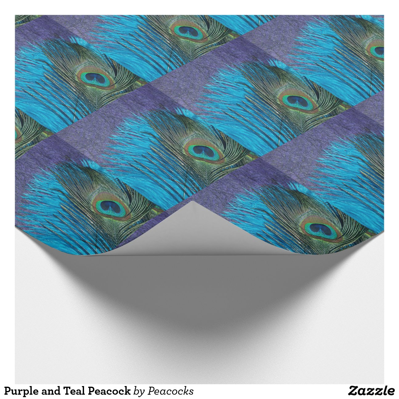Purple And Teal Peacock Wrapping Paper Zazzle