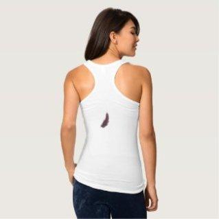 Purple Feather Boho Chic Vest top Tee Shirt