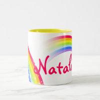 Rainbow kids mug