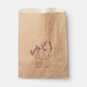 Rainbow Unicorn Girls Birthday Party Favour Bags