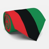 Red, Black and Green Flag Tie | Zazzle