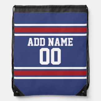 Red White Blue Sports Jersey Custom Name Number