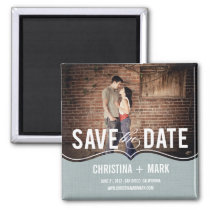Refined Elegance Save The Date Magnet