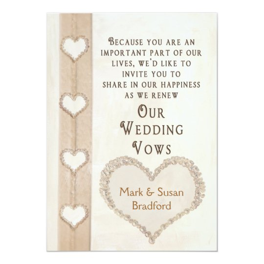 RENEWING WEDDING VOWS INVITATION  HEARTS TOGETHER  Zazzlecouk