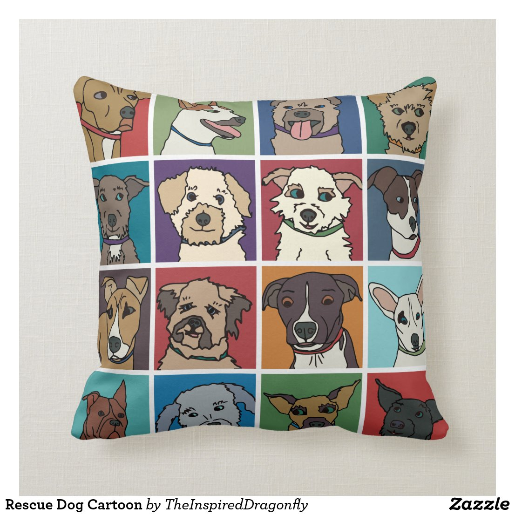 Rescue Dog Cartoon Cushion