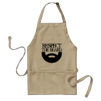 Respect the beard BBQ apron for men | Khaki beige