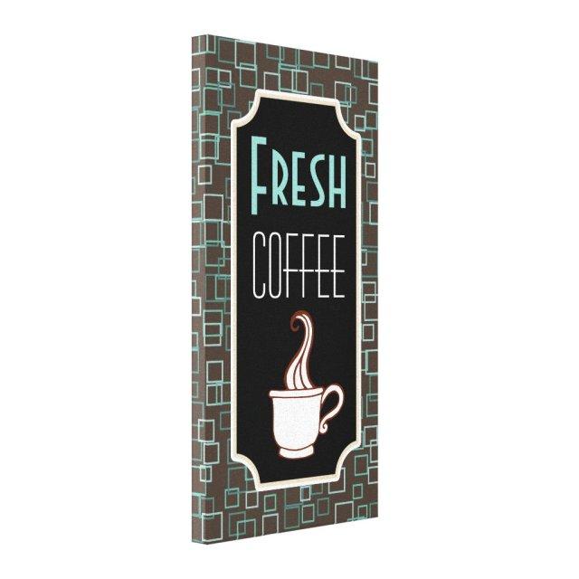 Retro Fresh Coffee Shop Wall Art
