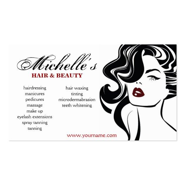 Retro Hair & Beauty salon business card design