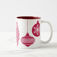Retro Ornaments Christmas Mug