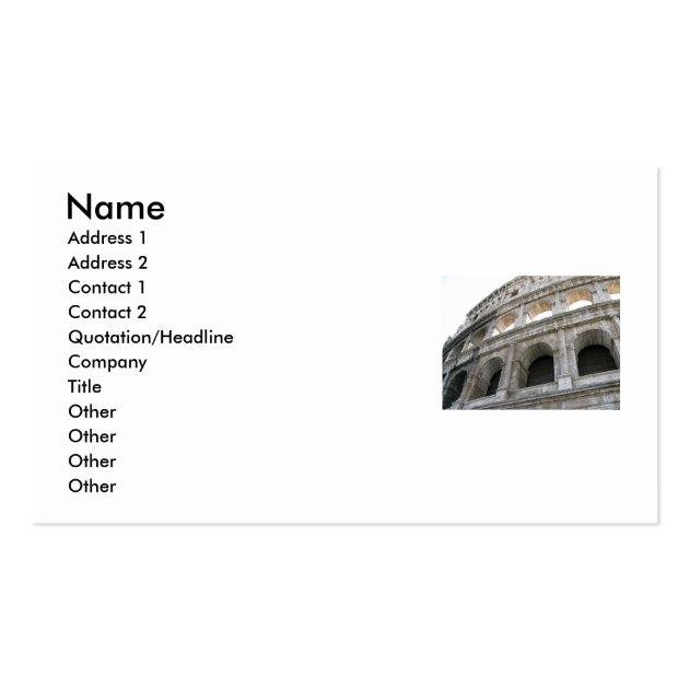 Roman Colosseum Colosseum Business Card Templates