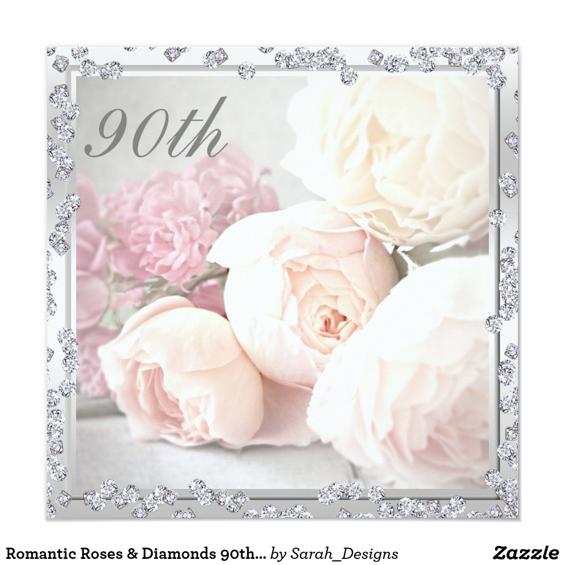 Romantic Roses & Diamonds 90th Birthday Party