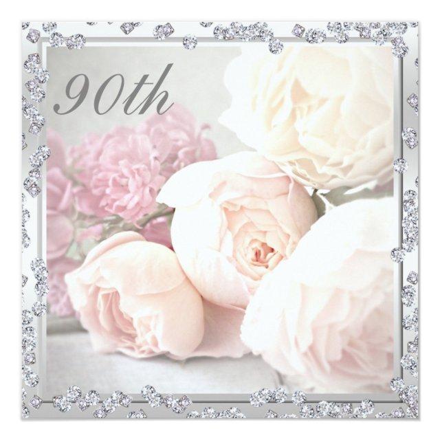 Romantic Roses & Diamonds 90th Birthday Party