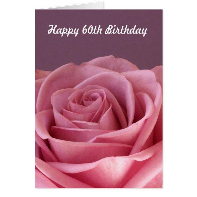Rose 60th Birthday Card