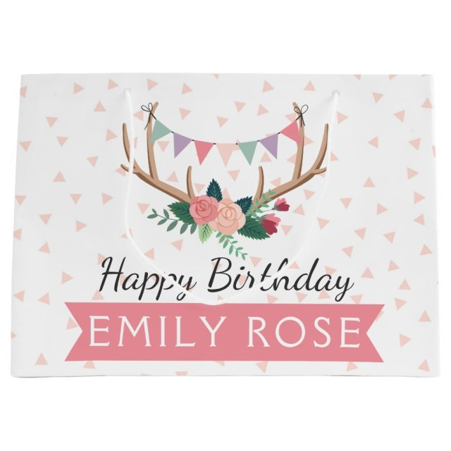 Rose Antlers & Party Bunting Girl's Birthday