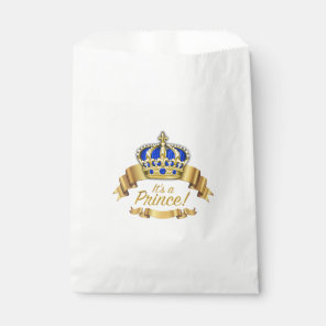 Royal Blue Gold Prince Baby Shower Favour Bags