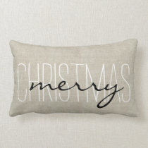Rustic Merry Christmas | Holiday Pillow