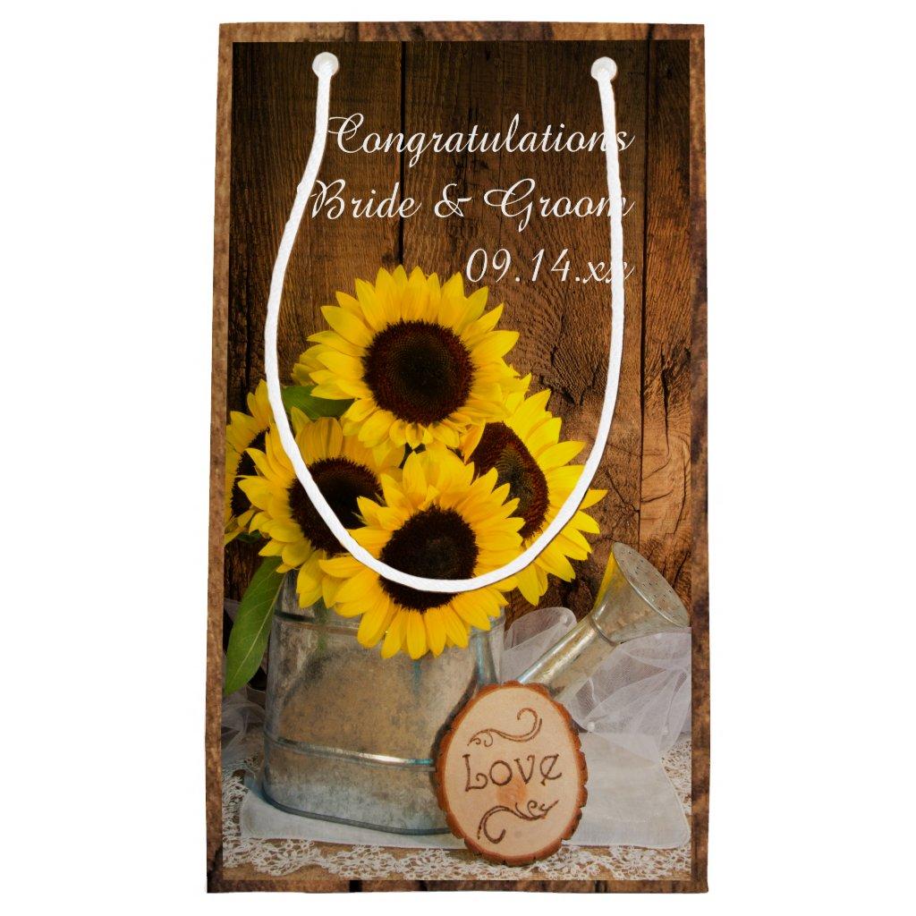 Sunflowers Wedding Gift Bag