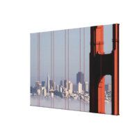 San Francisco Skyline from Golden Gate Bridge. Canvas Print