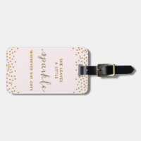 She Leaves a Little Sparkle Luggage Tag