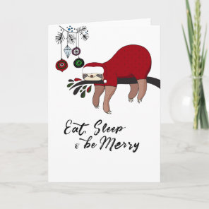 Sloth Christmas Card