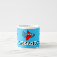 Personalized toy plane mug